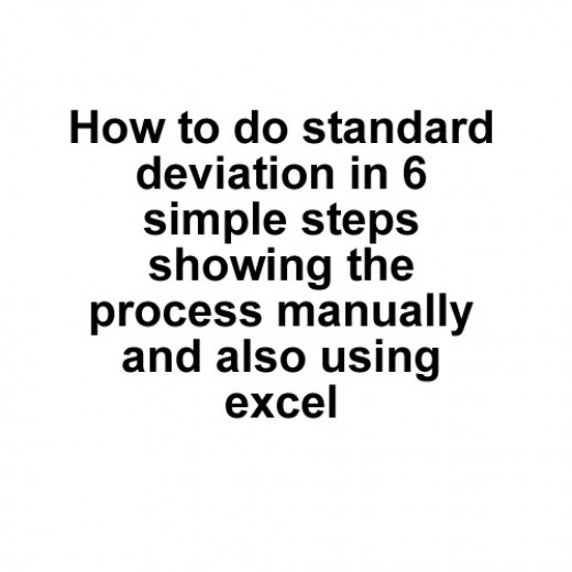 How to calculate standard deviation hubpages ccuart Images