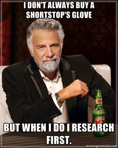 Best shortstop glove research.