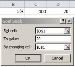 Using Goal Seek is probably a good example of something an Excel MOS should know how to use.  Many companies have to do this on a daily basis.