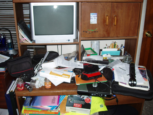 A cluttered environment can be very stressful.