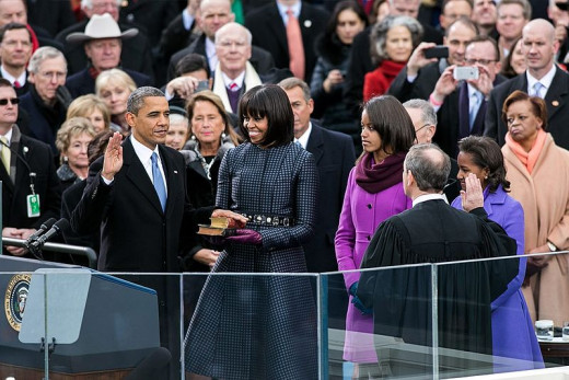 2013 Presidential Inauguration of Barack Obama. Sworn in by Chief Justice of the United States, John G. Roberts, Jr.