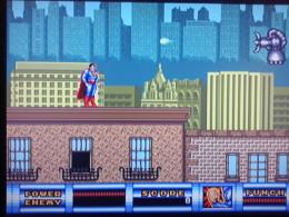 Screen Capture of game play of Superman for Sega Genesis