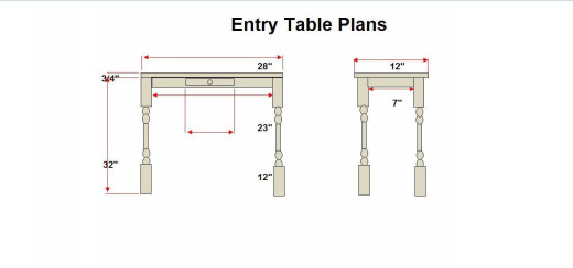 Entry Foyer Dimensions : How to build an entry table