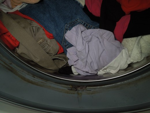 Dirty stuff that accumulated in a washer.