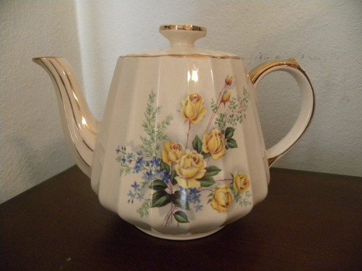 A beautiful and cheery, floral tea pot