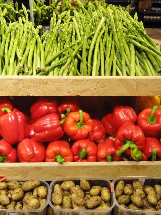 Fresh homegrown vegetables.