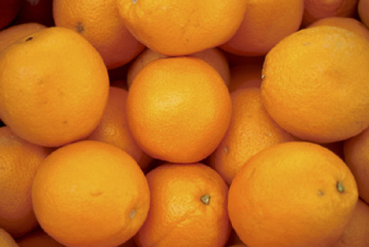 If you have a bruise, eat an orange or two. The vitamin C can help the bruise heal!