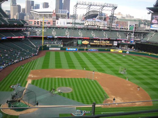 The perfect place to be on a sunny summer afternoon....Safeco Field in Seattle.