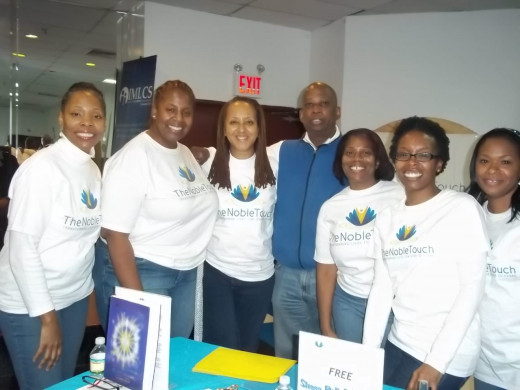 Noble Touch Healing Team at SPCBC Health Fair 12/1/12