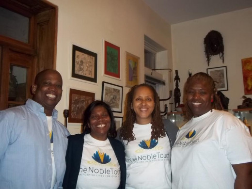 Noble Touch Healing Team at Brooklyn Aiyetoro (Mind, Body, Healing) event 12/15/12