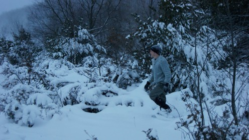 My son Dan, the Great Outdoorsman....really.