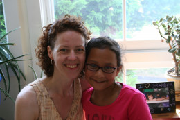 Laura with her daughter Shannon who was born with food sensitivities.