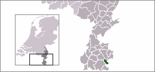 Map location of Simpelveld, Limburg province, The Netherlands