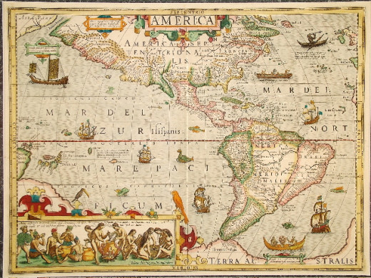 The New World, 17th c. maps