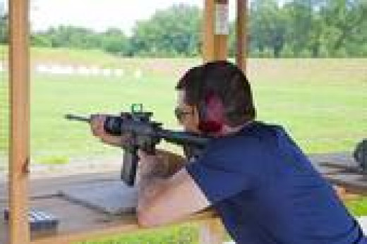 Shooting at a Regulated Rifle Range