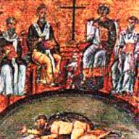 Arius condemned at the Council of Nicaea