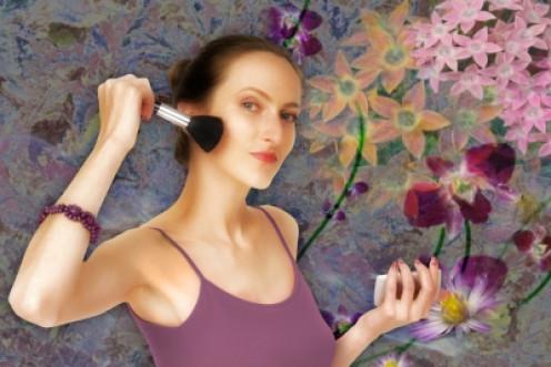 use a proper blush brush for a more natural blush application.