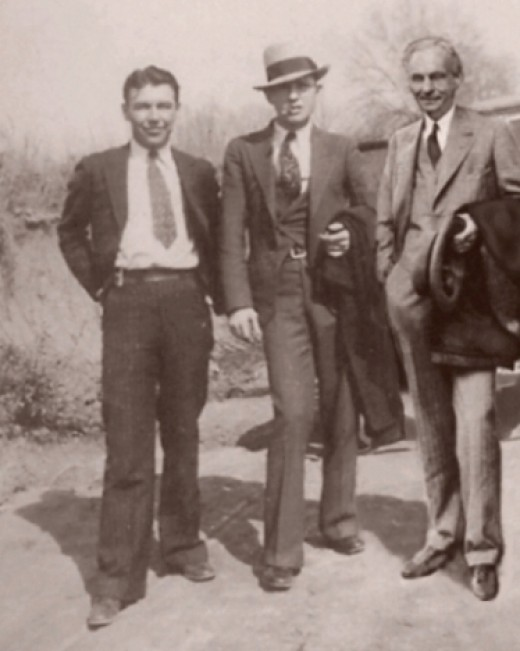W.D. Jones, Clyde Barrow, and Henry Ford