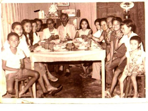 On Papa's 63 birthday celebration in Allen Northern Samar 1973, in the Cajandab Residence. My whole family together here this time.