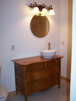 Master Bath Vanity and Light