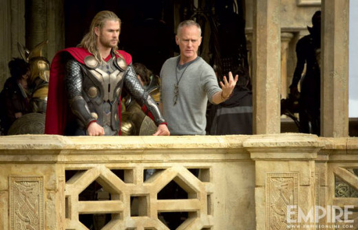 "The first ""official"" photo from the filming of Thor 2."