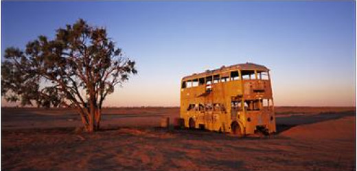 Abandoned bus in Australia.