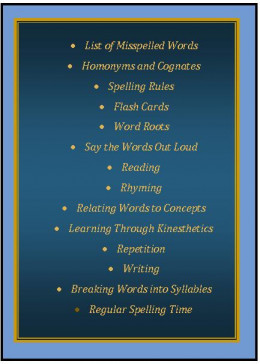 A few tricks for remembering how to spell difficult words.