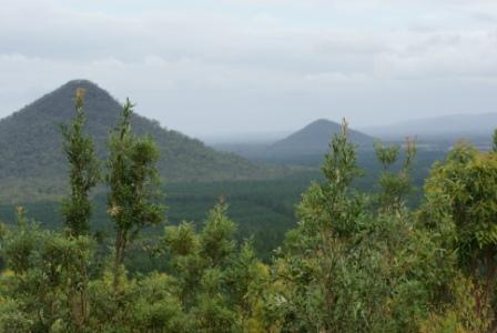 View from Glasshouse Mountains lookout, photographed by Ralph Edgell