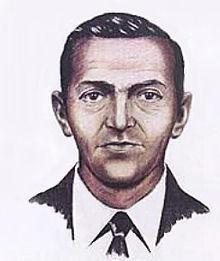 Artist's rendering from eyewitness accounts of D.B. Cooper