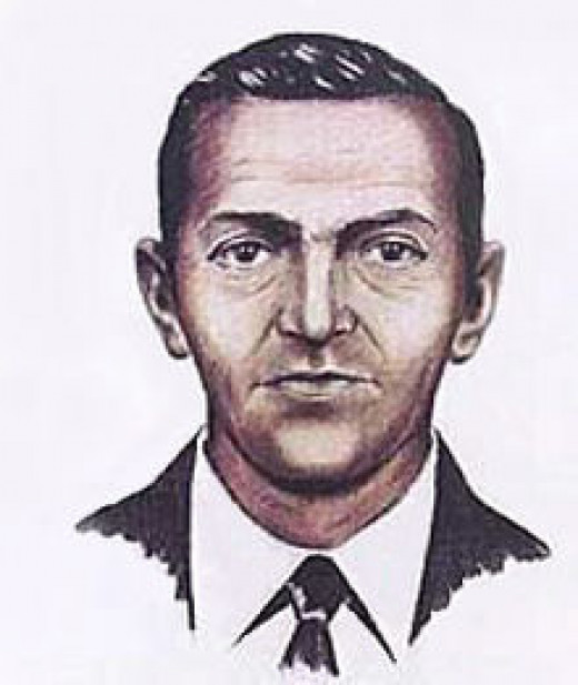 Artist's rendering from eyewitness accounts of D.B. Cooper