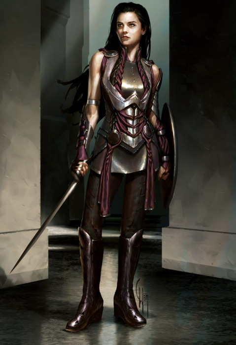 """Concept Art of Sif from """"Thor"""""""