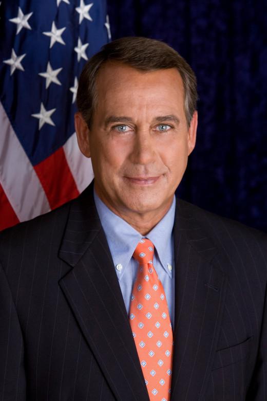 Current speaker of the House, Rep. John Boehner from Ohio.