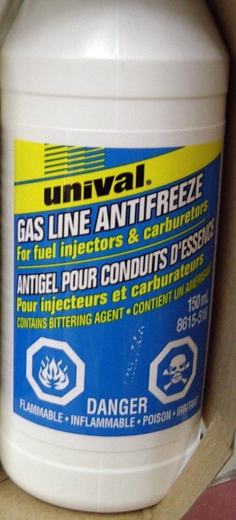 'Gas Line Antifreeze' - A Canadian winter necessity.