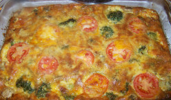 Low Calorie, No Crust Vegetarian Quiche with no cheese, no dairy option