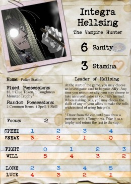 7 New Hellsing-Themed Investigators For Arkham Horror