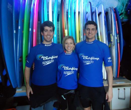 Surfing at Bondia