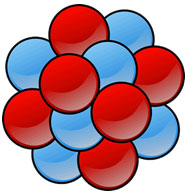 In a solid, atoms are packed tightly together