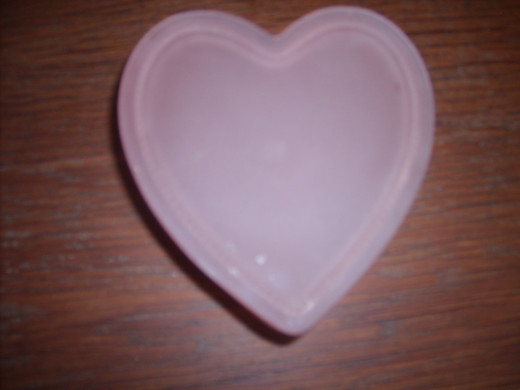A gorgeous heart-shaped box