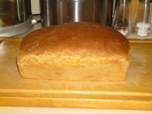 My freshly baked loaf.
