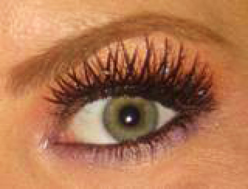 extra long eyelashes are also a big trend.