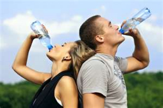Drinking plenty of water is essential in taking care of yourselfe.  8-10 glasses per day is recommended.