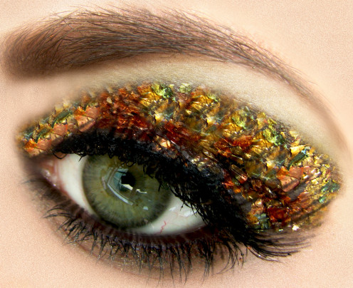 metallic, jeweled and shimmery eyes are big new for 2013.