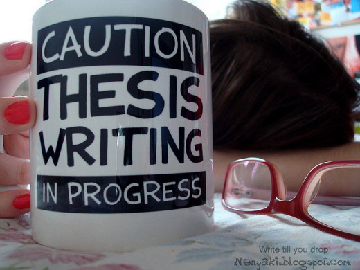 It can be difficult writing a thesis but hang in there!