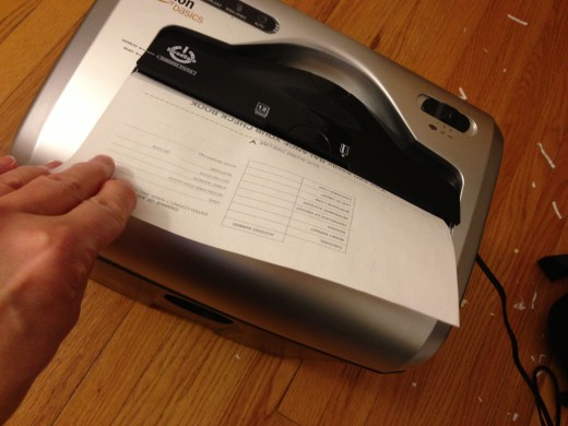 Reduce the time and wasted paper spent shredding old documents when you learn to go paperless.