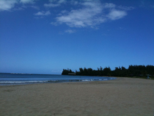 Pristine waters and white sandy beaches make Hanalei Beach an attractive location for honeymooners.