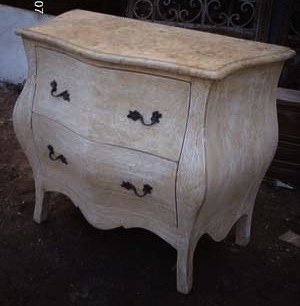 This piece of shabby chic furniture could probably look amazing with a coat of new paint!
