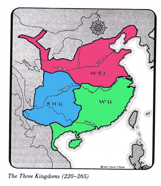 Map of the Three Kingdoms