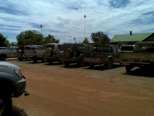 used vehicles (for work) owned by senior workers at a mine.
