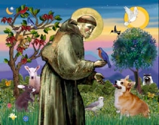 Spiritual mystic St. Francis of Assisi