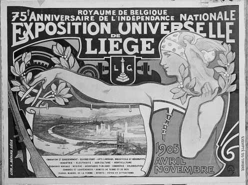 Official poster of the Universal Exhibition of Liège, 1905